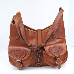 Mulberry Leather Convertible Shoulder Hobo Bag